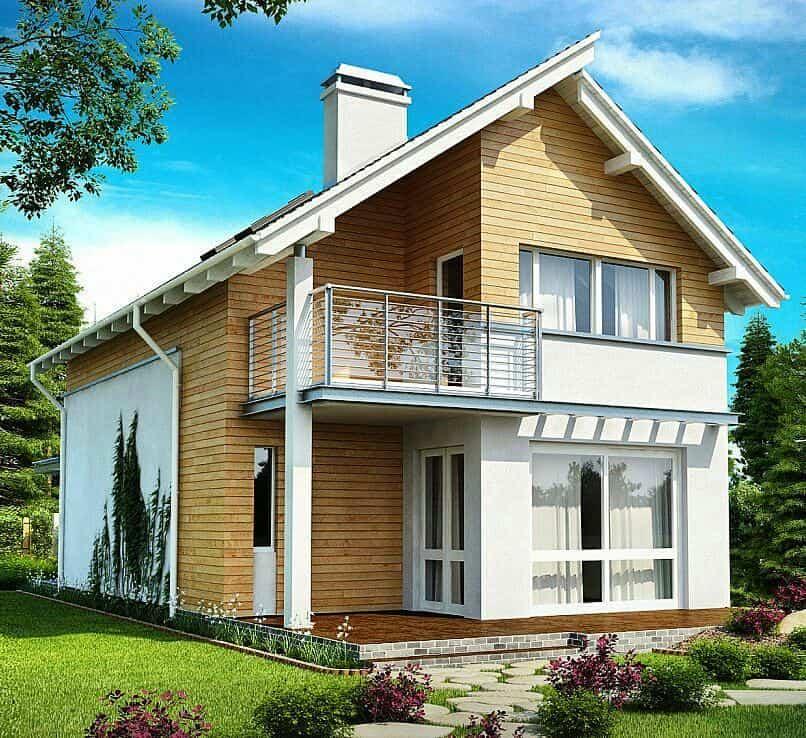 Проект частного 2х этажного дома