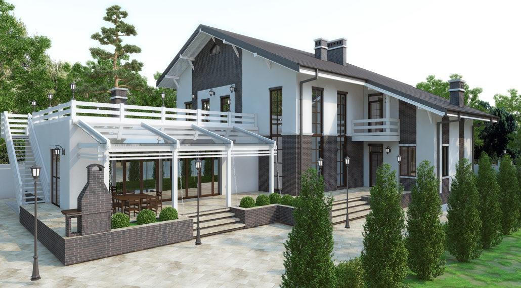 Задний двор жилого дома