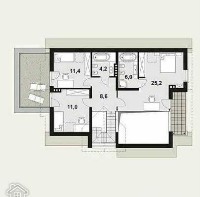 Загородный дом - площадь 190 кв.м.