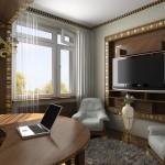 Интерьер кабинета и спальни