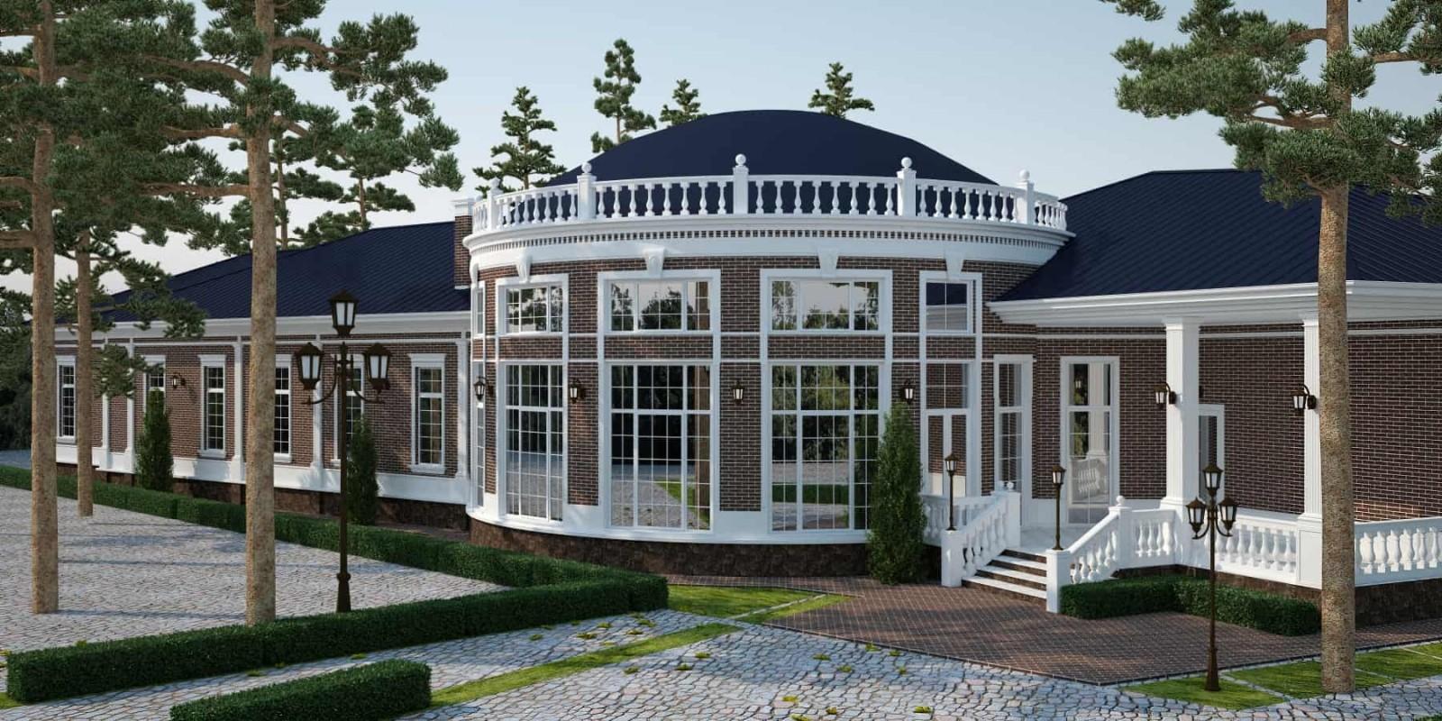 Проект частного дома Классика